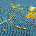 Our new shamrock goldwork design