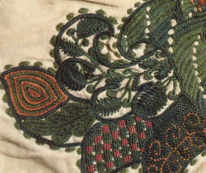 Example of crewel embroidery