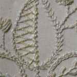 Mountmellick embroidery close up
