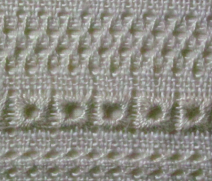 Pulled thread work