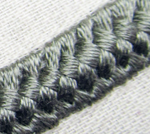 Double braid embroidery technique
