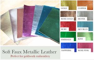 Faux metallic leather range