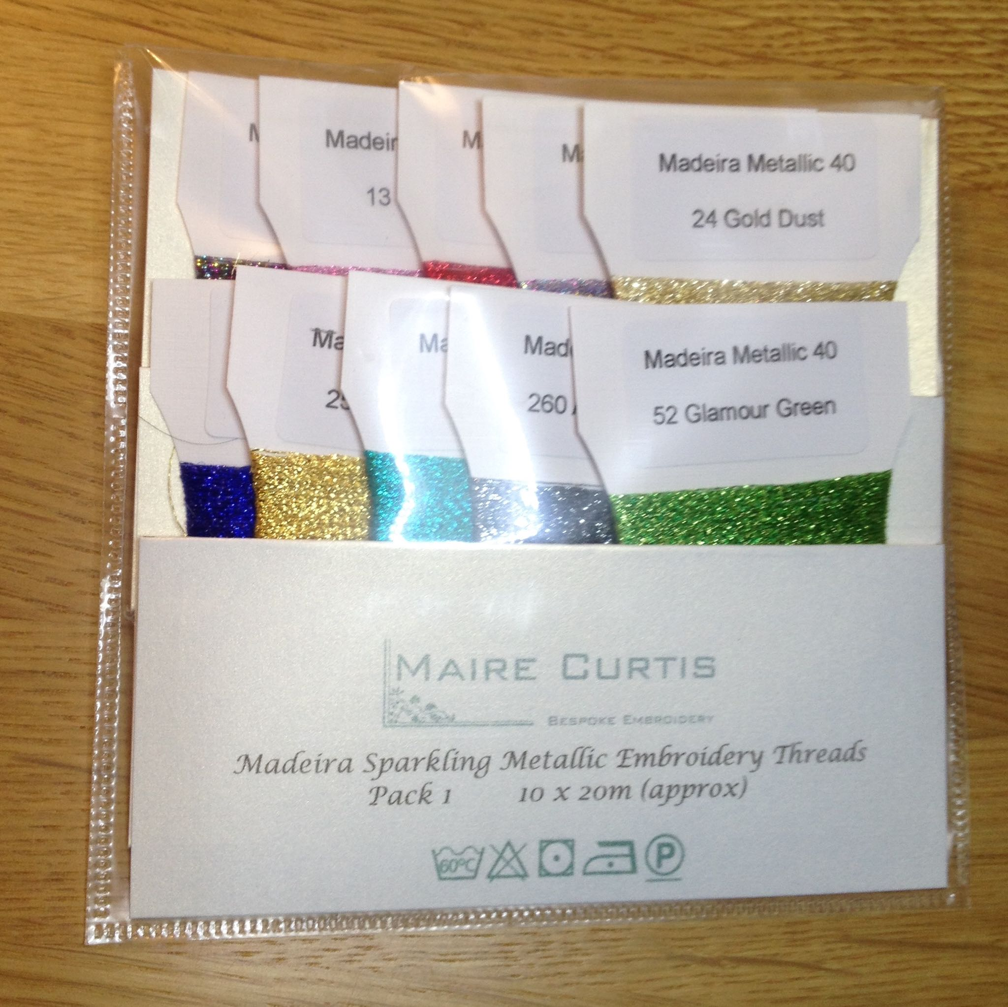Sparkling Embroidery Thread packaging