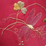 Sue - Finished goldwork dragonfly