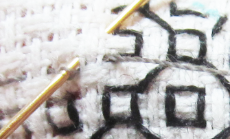 Blackwork filling stitch