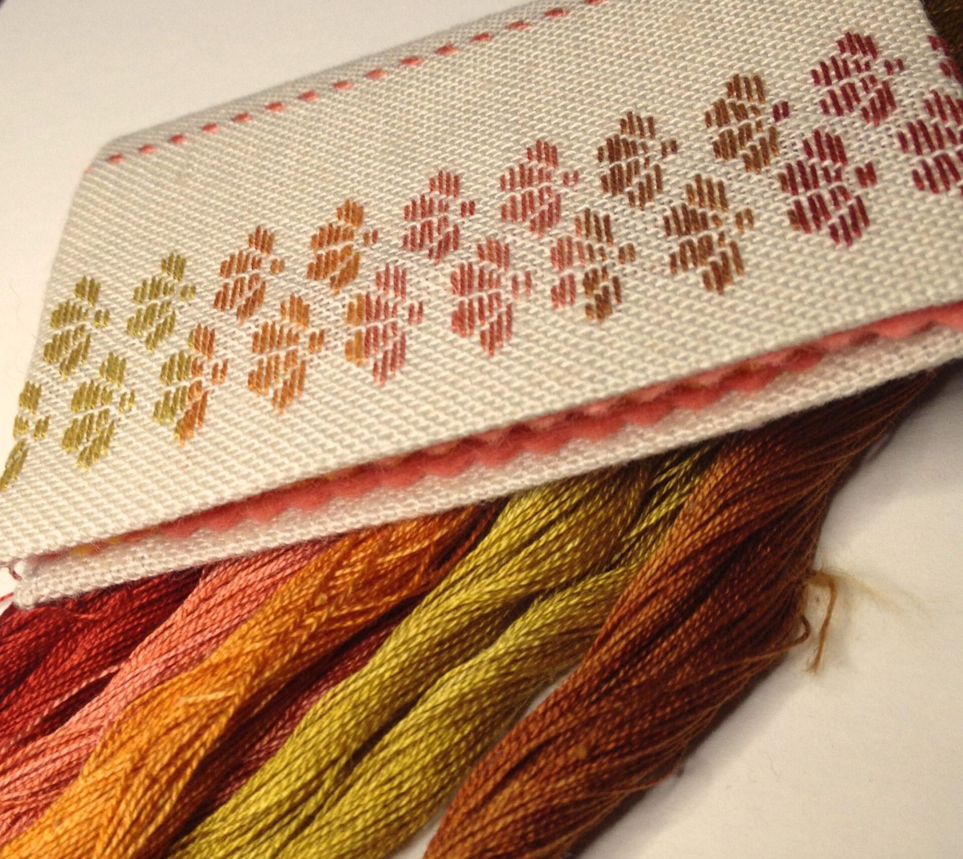 Kogin needle case thread colours