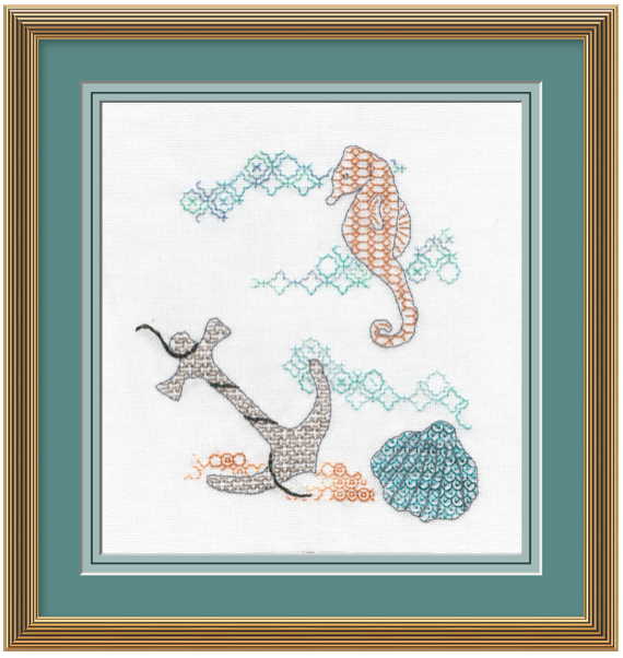 Under the Sea Blackwork Embroidery Kit