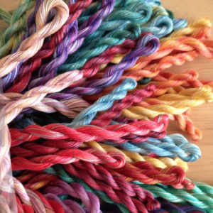 Fine perle variegated embroidery threads
